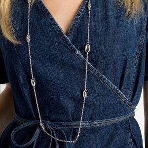 Kendra Scott Kellie Long Necklace In Silver